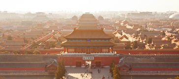 bird's-eye view of the Forbidden City Royalty Free Stock Photo