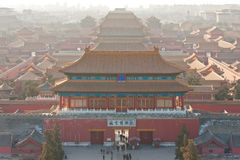 Bird's-eye view of the Forbidden City Stock Photo