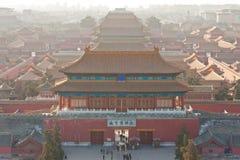 Bird's-eye view of the Forbidden City stock photo