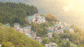 Bird`s eye view of Gangtok royalty free stock image
