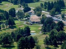 Bird's Eye View Of Golf Course Royalty Free Stock Photos