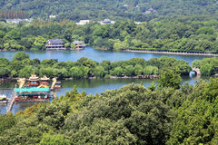 A bird's eye view of the hangzhou west lake Royalty Free Stock Images