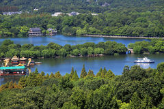 A bird's eye view of the hangzhou west lake Royalty Free Stock Photos