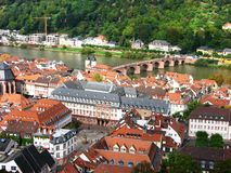 Bird's eye view of the Heidelberg, Germany Stock Image