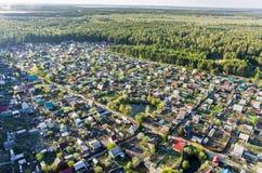 Bird's eye view of housing estate Royalty Free Stock Image