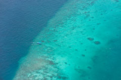 Bird's-eye view of maldives atoll Royalty Free Stock Image