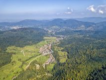 Bird& x27;s eye view of MALSCHBACH. The bird& x27;s eye view of the MALSCHBACH town of Germany in September 2017 Royalty Free Stock Image