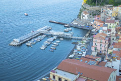 Bird`s Eye View of Marina Grande in Sorrento. Bird`s Eye View of  Grande Sorrento Italy Royalty Free Stock Photography