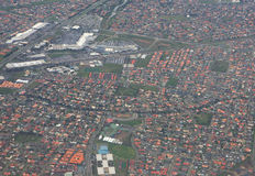 Bird's eye view melbourne Royalty Free Stock Photography