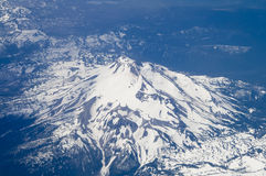 Bird's Eye view of Mt. Hood in Oregon, USA. Stock Photo
