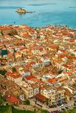 Bird's-eye view of Nafplion center Royalty Free Stock Images