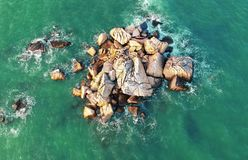 Bird's Eye View of the Ocean royalty free stock photography