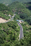 Bird S Eye View Of A Road Through The Valley Royalty Free Stock Images