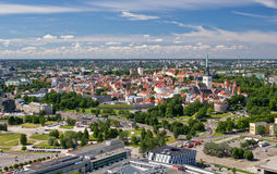 Bird's-eye view of old city of Tallinn Royalty Free Stock Photos
