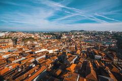 Bird`s-eye view of old Porto downtown, Portugal. Architecture. Stock Photography