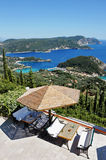 A bird's-eye view of paleokastritsa Stock Photography