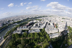 Bird's eye view  paris france seine river Stock Photo