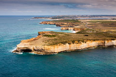 Bird's-eye view of Port Campbell National Park. By Great Ocean Rd, Australia stock photos