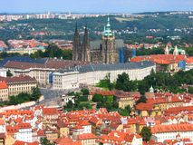 Bird's eye view of Prague Castle, Czech republic Stock Images