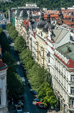 Birds eye view of Prague Stock Images