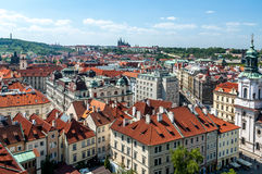 Birds eye view of Prague Royalty Free Stock Images