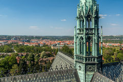 Birds eye view of Prague Royalty Free Stock Photography