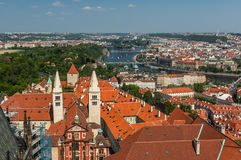 Bird's eye view of Prague Royalty Free Stock Images