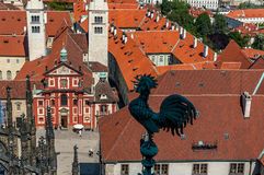 Bird's eye view of Prague Stock Image