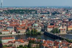 Bird's eye view of Prague Stock Photography