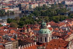 Birds eye view of Prague Stock Photos