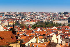 Birds eye view of Prague Stock Image