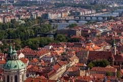Bird's eye view of Prague Stock Photos
