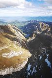 Bird's Eye View Of Rocky Mountains royalty free stock photography