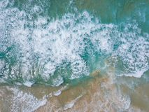 Bird's-eye View of Sea Waves stock photography