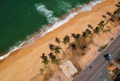Bird's Eye View of Seashore royalty free stock images