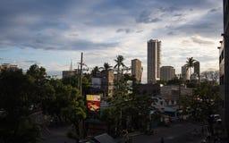 Bird's eye view of shanghai at dusk Stock Photos