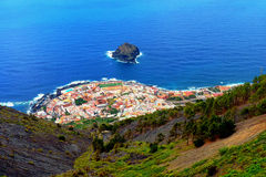 Bird's Eye View of a small village in Tenerife Royalty Free Stock Image
