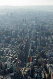 Birds eye view of Taipei in daylight Royalty Free Stock Images