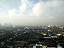 Bird's eye view from the tallest building in bangkok in the evening Stock Photography