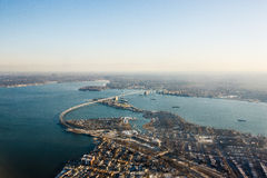 Bird's eye view of Throgs Neck Bridge Royalty Free Stock Photography