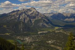 Bird's eye view, town of Banff Stock Photography
