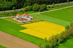 A bird's eye view of village Gleisenfeld in Austria Stock Images
