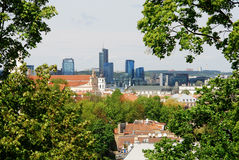 Bird's eye view of Vilnius, new and old Stock Photo