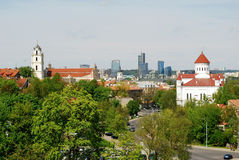 Bird's eye view of Vilnius, new and old Stock Photos