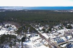 Bird's eye view. Winter landscape. Bird's eye view Stock Image