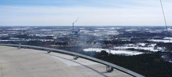 Bird's eye view. Winter landscape. Bird's eye view Royalty Free Stock Image