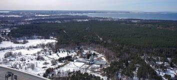 Bird's eye view. Winter landscape. Bird's eye view Stock Photos