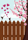 Bird's love Stock Images