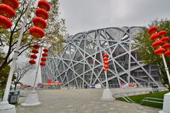 The Bird's nest, Beijing national stadium. China. Beijing is the capital of China and one of the most populous cities in the world Stock Photos