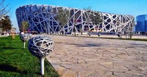 Bird`s Nest National Stadium Beijing. Taken in 2008 Royalty Free Stock Photo